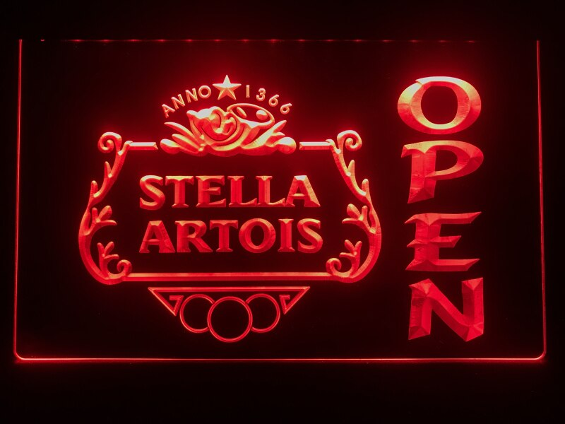 Stella Artois OPEN Bar LED Neon Sign - MannenDingen