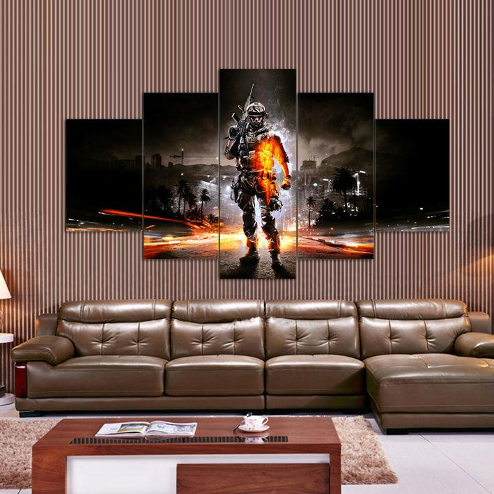 Battlefield home wall HD canvas - MannenDingen