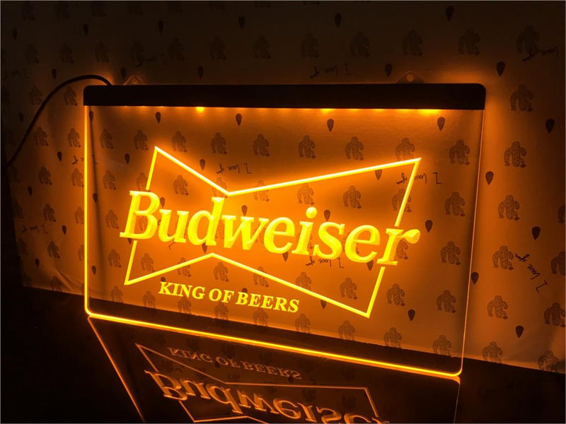 Budweiser King of Beers LED Neon Sign - MannenDingen