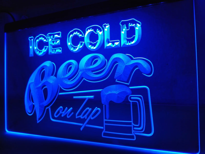 Ice Cold Beer on Tap LED Neon Sign - MannenDingen