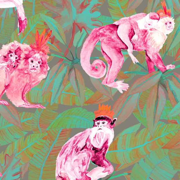 Pink and Green Monkeys - WP