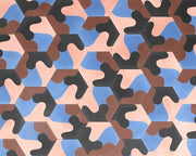 Black - Blue Cement Hex Tile