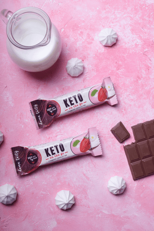 20x35g Strawberry Chocolate Bars Riegel KETO On The Go