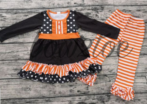 Orange Dot/Stripe Outfit