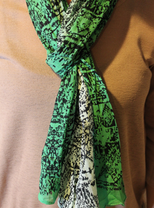 3 Shade Green Scarf
