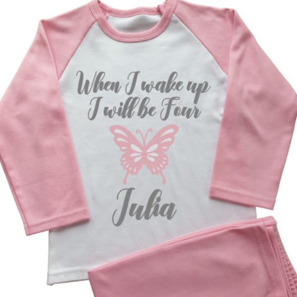 Butterfly Personalised Pyjamas