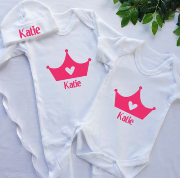 Crown Personalised Baby Clothing