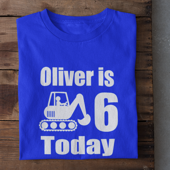 Digger Personalised Birthday Tshirt