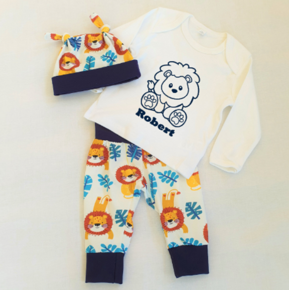 Personalised Boys Lion  Set