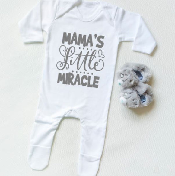 Mamas Little Miracle Personalised Baby Clothing