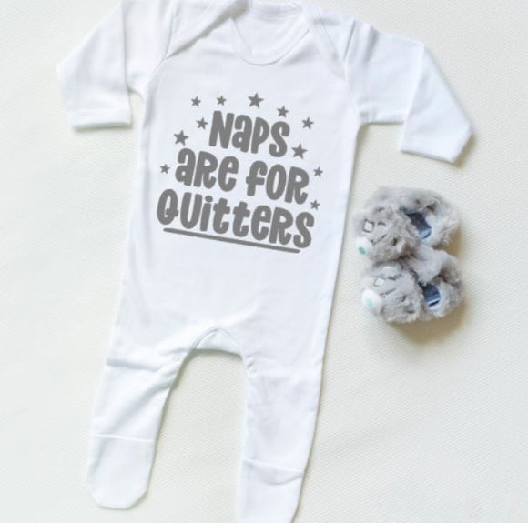 Naps are for Quitters Personalised Baby Clothing