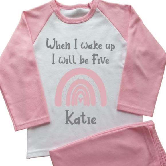 Rainbow Personalised Pyjamas