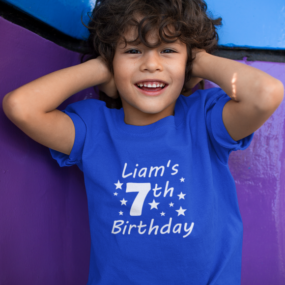 Star Personalised Birthday Tshirt