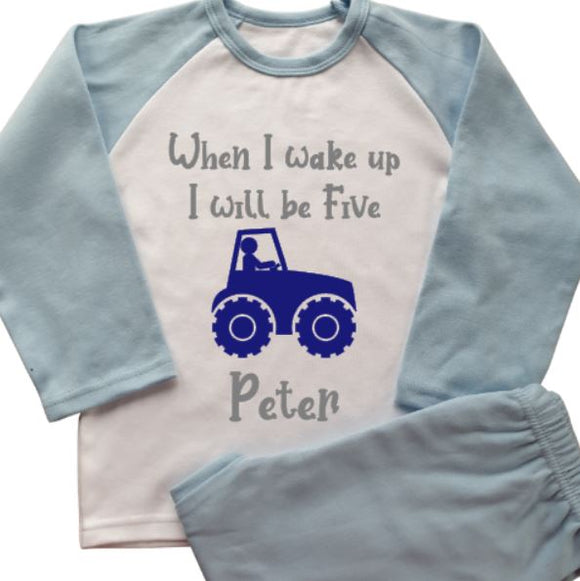 Tractor Personalised Pyjamas