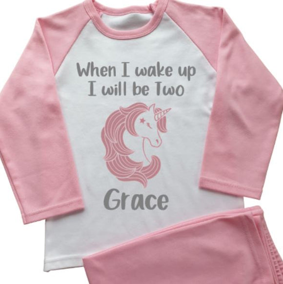 Unicorn Personalised Pyjamas