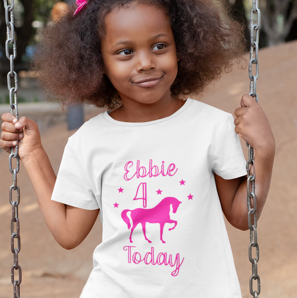 Unicorn Personalised Birthday Tshirt