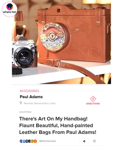 Paul Adams News There's Art On My Handbag! from whatshot.in