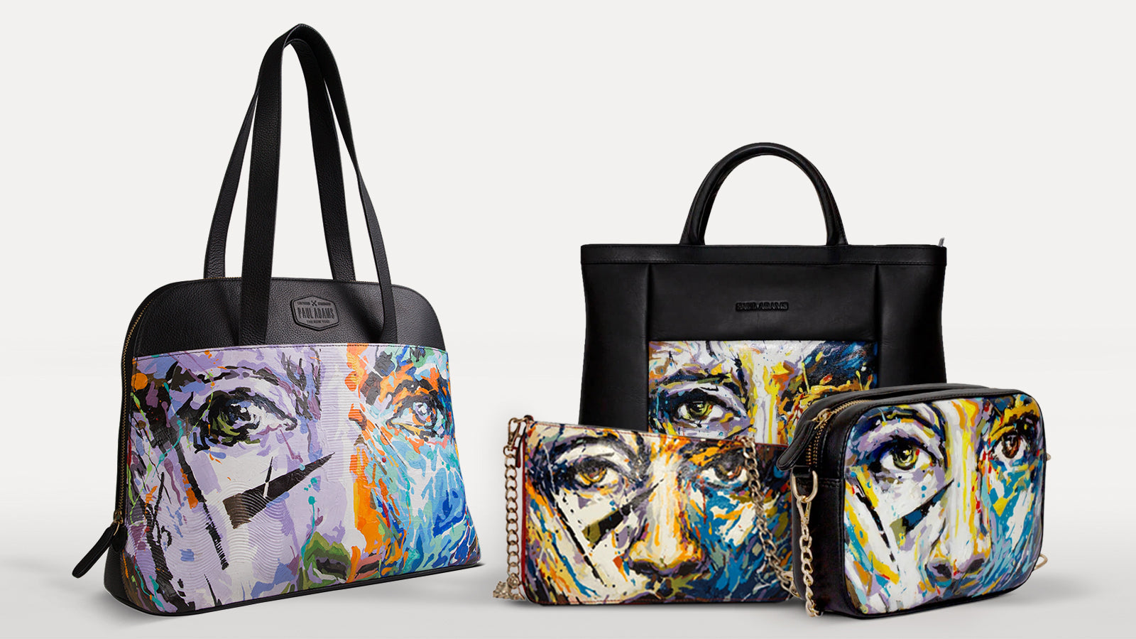 The Laura Collection: Handpainted Luxury Bags. Sling Bags, Handbags, Document Cases and Office Bags
