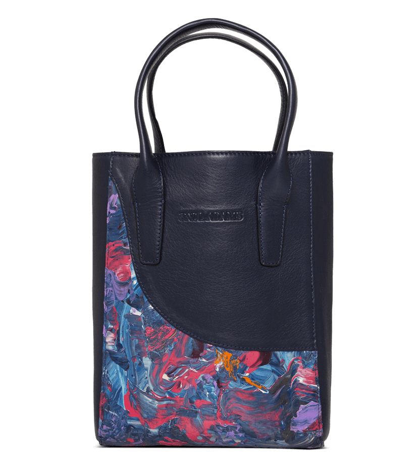Coco Mini Tote Bag Designed with Abstract Art by Shinali Jain - Paul Adams