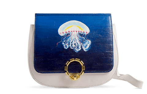 Ebisu Sling Bag Designed with  Hand Painted Realism Art by Vaishali Tatyaram - Paul Adams