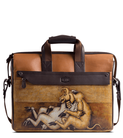 Gerwyn Briefcase Designed with Rajkumar Sarde Cubism Art - Paul Adams