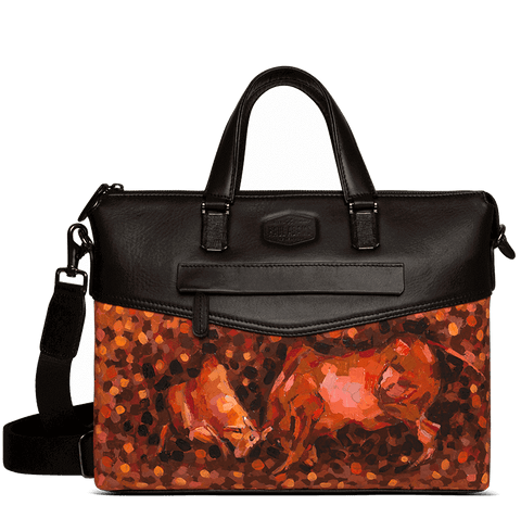 Anna Kurian Rocco Laptop Bag with Abstraction Art by Paul Adams Paul Adams