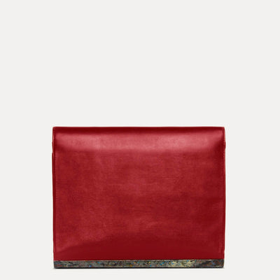 Alex Premium Leather Document Folder in Scarlet Red Color by Paul Adams