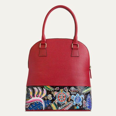 Aloha textured full-grain leather handbag for women. Shop at the world of Paul Adams.