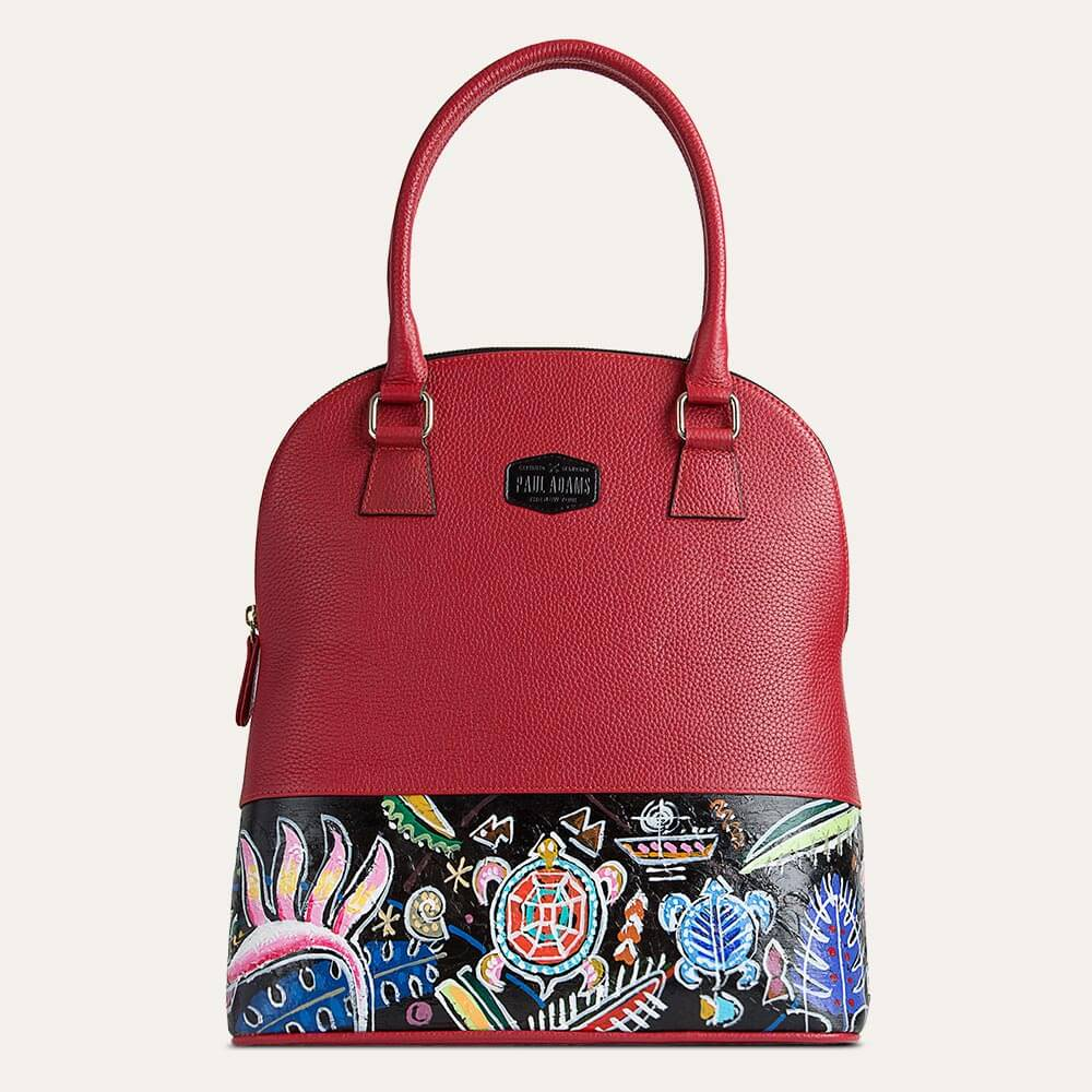 Shop Aloha handbag for women in Red at the world of Paul Adams. Perfect for office use.