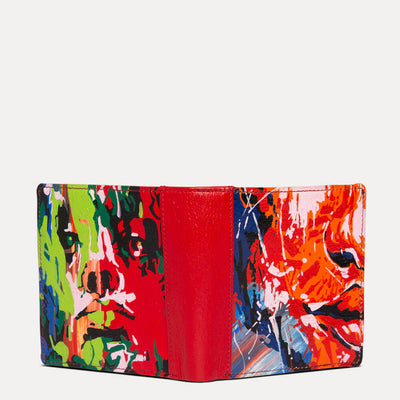 Amie luxury wallet with original hand painted Pop Art. Shop at the world of Paul Adams.