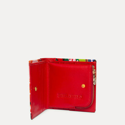 Amie Wallet for women in Hot Rod Red. Available at Paul Adams.