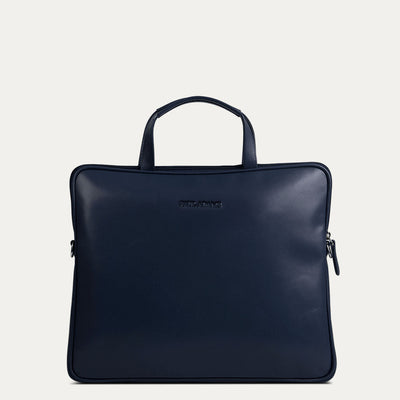 Amos portfolio bag for men with UV protection and waterproof. Available in Royal Blue at Paul Adams.