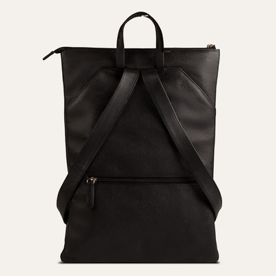 Ava leather backpack with textured full-grain leather. Shop at Paul Adams world.