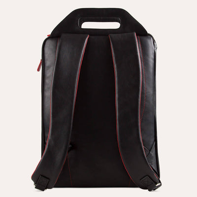 Blake backpack for men with shoulder straps and alternative cut-through palm handles. Shop at Paul Adams.