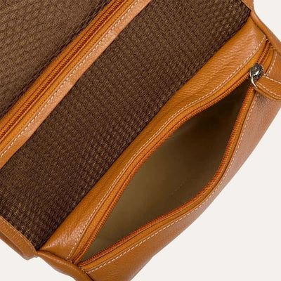 Caspar toiletry bag with premium cotton and silk Matty lining. Available at the world of Paul Adams.