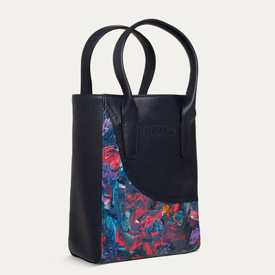 Coco Designer Tote Bag in Hand Painted Original Abstract Art by Paul Adams