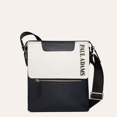 Dom Luxury Messenger Bag in Oxford Blue & Eggshell White Colors by Paul Adams