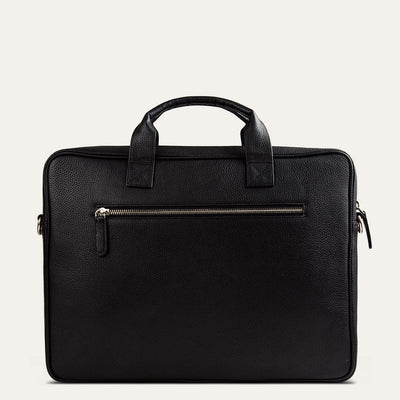 Ekon leather briefcase for men in textured full-grain leather. Shop at pauladamsworld.com