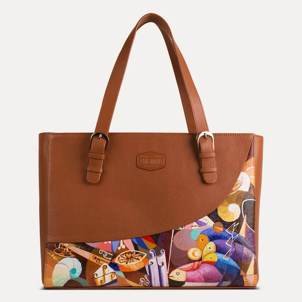 Emma laptop bag for women in Saffron Tan color, available at the world of  Paul Adams.