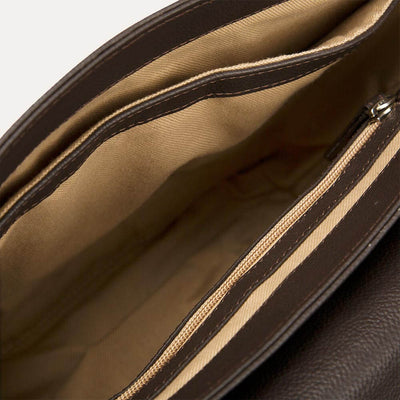 Farren messenger bag for men with UV protection and waterproof. Available in Cinnamon Tan at Paul Adams.