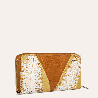 Jules Original Ostrich Leather Wallet for Women by PaulAdamsWorld