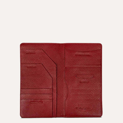 Kedin Luxury Travel Wallet in Scarlet Red Color for Men & Women by Paul Adams