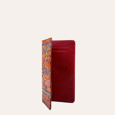 Kedin Credit Card & Boarding Pass Holder in Red & Blue Color by Paul Adams