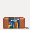 Kara Napa Leather Wallet for Women Available in Dark Almond Tan Color  | www.pauladamsworld.com