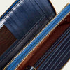 Kara wallet for women by Paul Adams with  12 cardholder pockets, 1 divider, 1 zip pocket inside, and space for handsets.