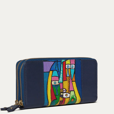 Kara leather wallet with soft Napa leather. Shop at Paul Adams world.