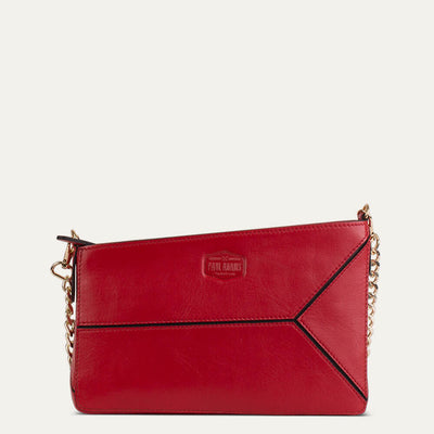 Iva leather sling bag with soft Napa leather. Shop at Paul Adams world.