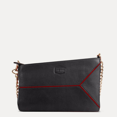 Iva Pure Leather Sling Bag Available in Charcoal Black Color |  Explore at Paul Adams World