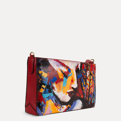 Iva sling bag for women in Scarlet Red. Shop at pauladamsworld.com