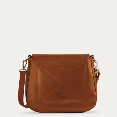Maya Leather Sling Bag Available in Dark Almond  Tan Color | Visit at www.pauladamsworld.com